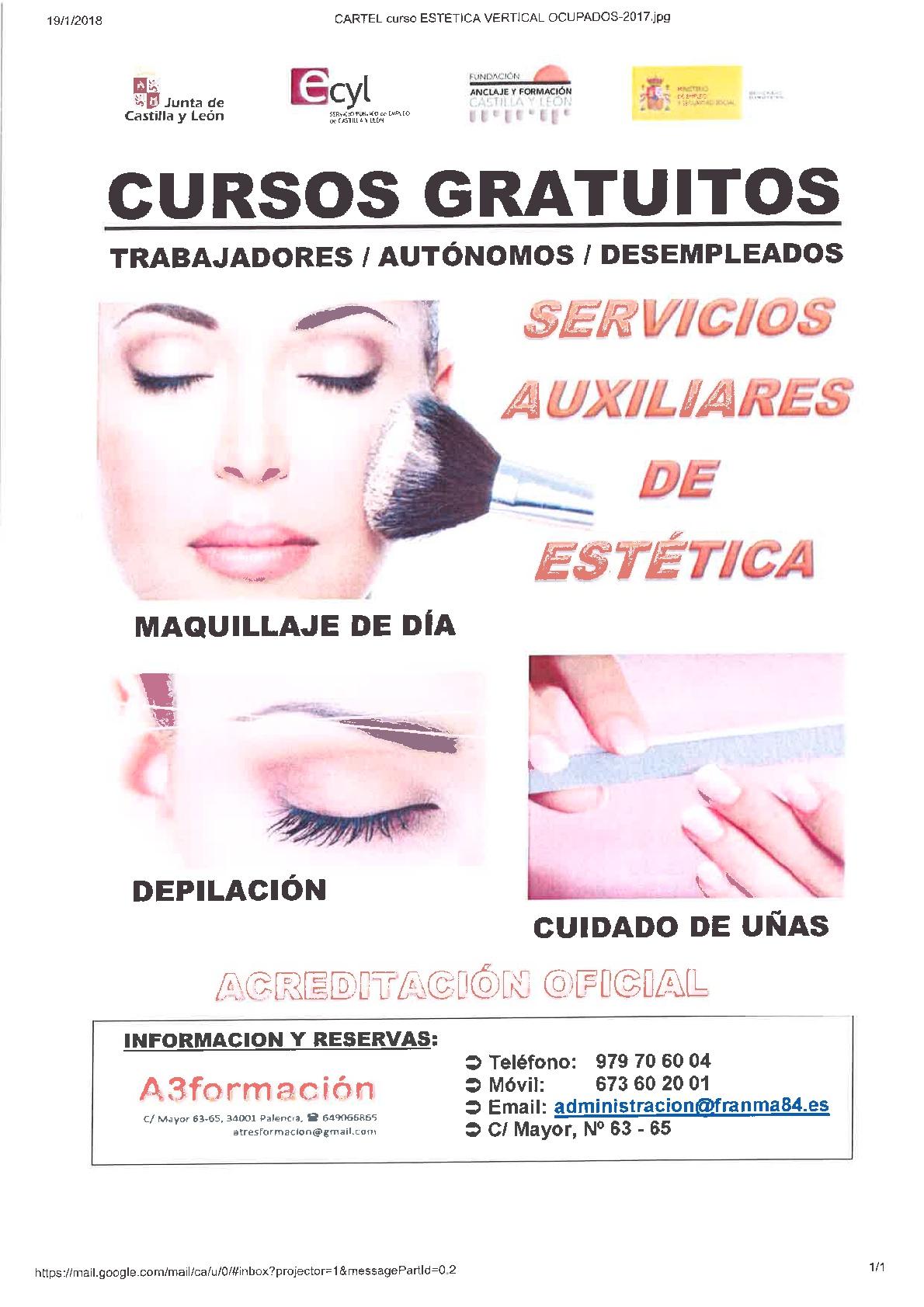 SERVICIOS AUXILIARES DE ESTETICA