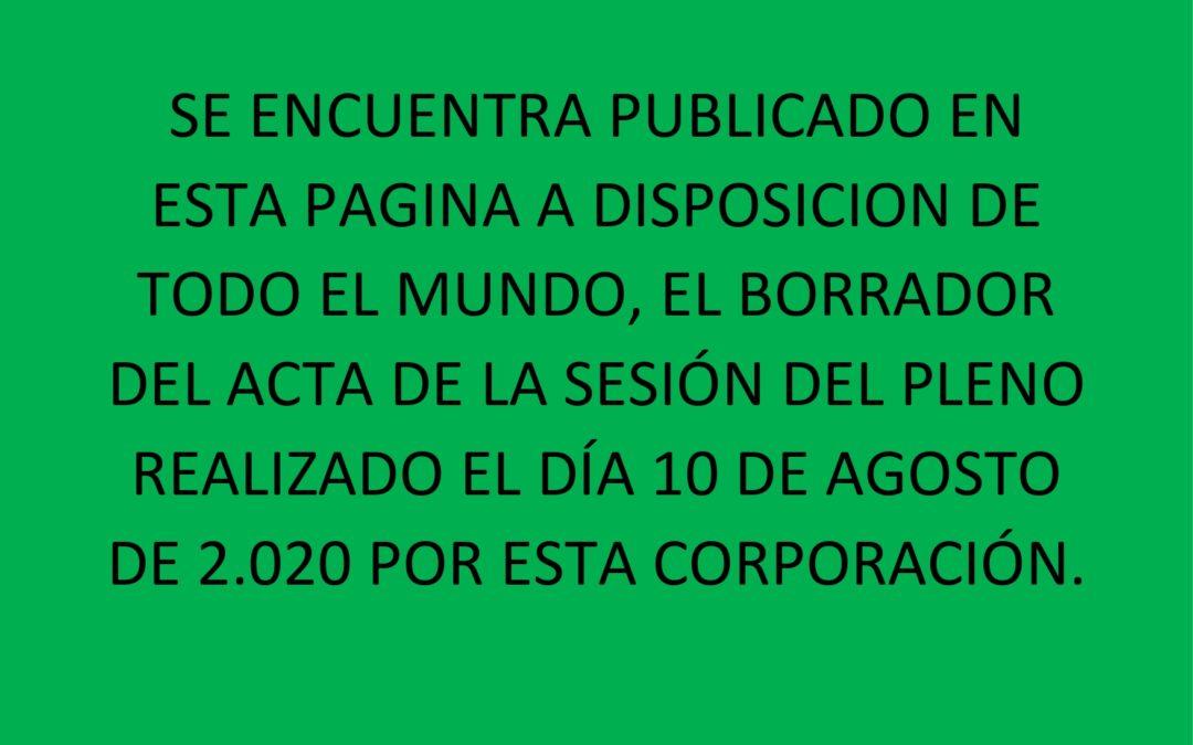 PUBLICACION BORRADOR ACTA 10 AGOSTO 2020
