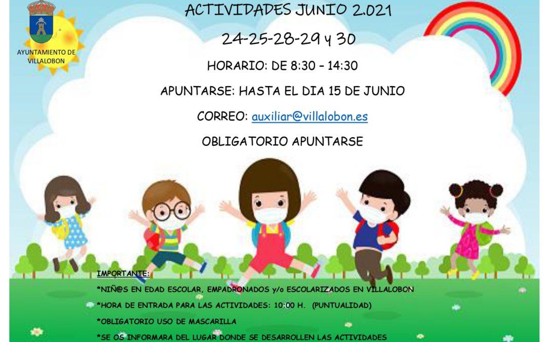 ACTIVIDADES MES DE JUNIO 2021